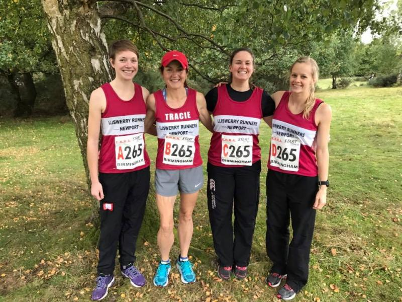 A fantastic debut performance by Lliswerry Ladies at the National Road Relays.